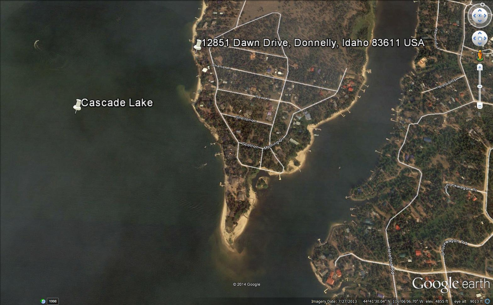 Cascade Lake Realty Bare Land Over K - Kiser lake map
